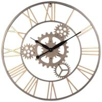 Horloge à rouages en métal doré D68 Plano