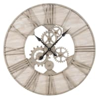 Horloge à rouages en métal effet vieilli D85 Belmont