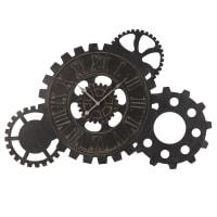 Horloge à rouages en métal noir 57x85 Jack