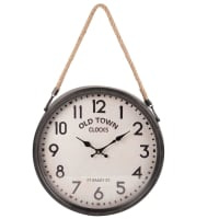 Horloge à suspendre en métal gris 40x62 Niels