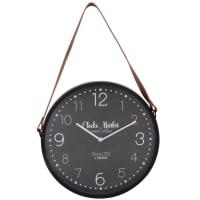Horloge à suspendre noire et marron D33 Bryce