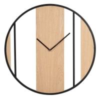 CLARK - Horloge beige et noire D50