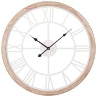 Horloge blanche et coloris naturel H50 Montroy