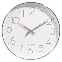 Horloge blanche et cuivrée D31 Swaggy Copper