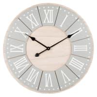 Horloge coloris gris clair et naturel D60 Carnot