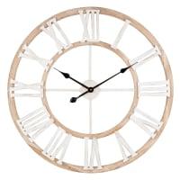 IRVINE - Horloge coloris naturel et blanc D70
