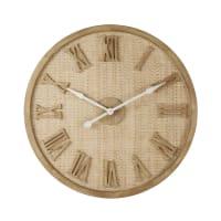 BEAUMES - Horloge en cannage D90