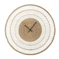ZELIN - Horloge en fibre végétale tressée D82