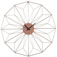 Horloge en métal cuivré D80 Akimi