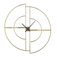 GOLDEN HOUR - Horloge en métal doré 90x97