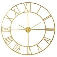Horloge en métal doré D100 Diane