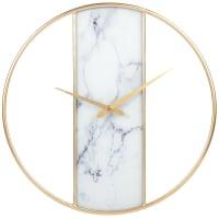 Horloge en métal doré et effet marbre D45
