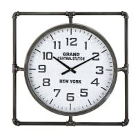 Horloge en métal noir 64x64 Norfolk
