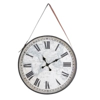 Horloge en métal noir 75x115 Alexandrie