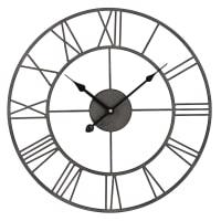 Horloge en métal noir D45 Rudy