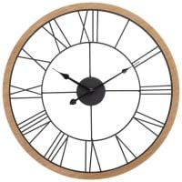 Horloge en métal noir D52 Montroy