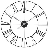 Horloge en métal noir D60 Usine