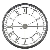 Horloge en métal noir D86 Isaure