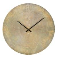 Horloge en métal strié coloris laiton D74 Kobe