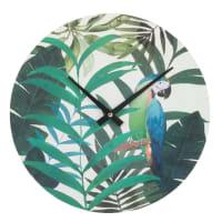Horloge imprimé cacatoès