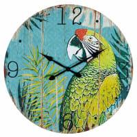 Horloge imprimée perroquet Rio