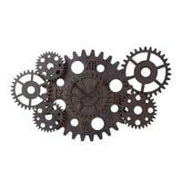Horloge indus à rouages effet rouille D125 Princeton