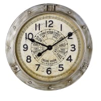MIDLAND - Horloge indus en métal effet vieilli D85