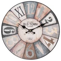 Horloge multicolore D34 Cosy