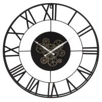 Horloge perpétuelle à rouages en métal noir D70 Roby