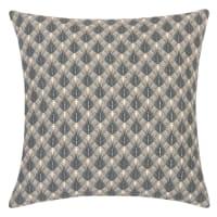 NIVALA - Lot de 2 - Housse de coussin en coton bleu et blanc motifs graphiques 40x40