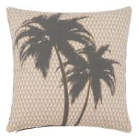 Housse de coussin en coton imprimé palmiers 40x40 Palmspring