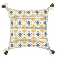 Housse de coussin en coton motifs graphiques 40x40 Juba