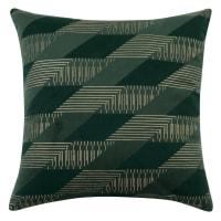 WABAN - Lot de 2 - Housse de coussin en velours vert motifs graphique 40x40