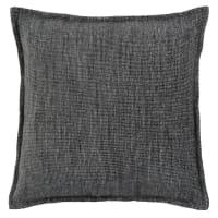FREDRIKA - Housse de coussin gris anthracite 40x40