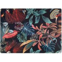 WICKFORD - Lote de 2 - Individual com motivos de plantas multicolores