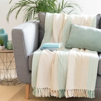 Jeté en coton motif jacquard 180x240 Saidia