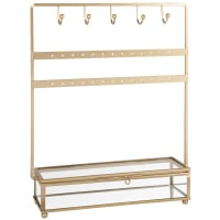 JOYCE - Jewellery holder in metal and clear glass