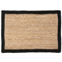 Jute Placemat with Black Edging 30x45