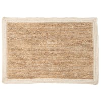 Jute Placemat with White Edging 30x45