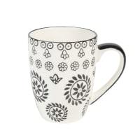 CHIANG MAI - Set aus 2 - Kaffeebecher aus Keramik, schwarz/ weiß