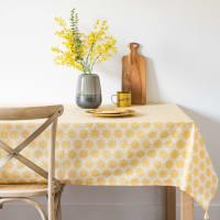 Katoenen tafellaken met gele bloemenmotieven 150x250 Jasmin