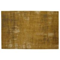 Katoenen vloerkleed, mosterdgeel, 140 x 200 cm, Feel