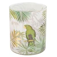 Kerze im Glas mit Tropenmotiv Parrot
