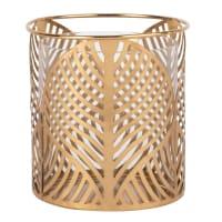 EMMA - Kerzenhalter aus goldfarbenem Metall mit Lochmuster