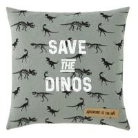 Khaki Print Cotton Cushion 40x40 Dinos