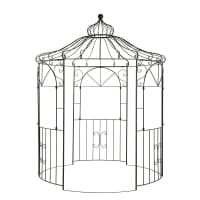 ST GERMAIN - Kiosque de jardin en métal marron foncé vieilli