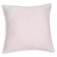 Kissen aus pastellrosa Wildlederimitat 60x60cm Ballerina