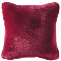 Kissen aus rotem Kunstpelz 45x45 Appalaches