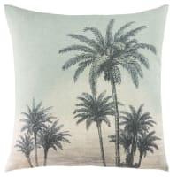 Kissen bedruckt mit tropischem Landschaftsmotiv 45x45