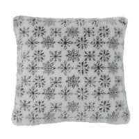 Kissen  aus Kunstfell mit Flockenmotiv, 45 x 45 cm Flake